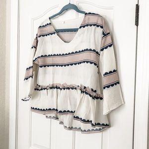 Zaful 3/4 sleeve blouse